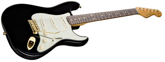 Black and gold guitar
