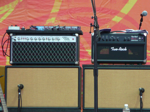John Mayer Gear: Amps on stage
